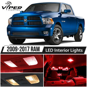 2009 2017 Dodge Ram 1500 2500 3500 Red Led Interior Lights Package Kit