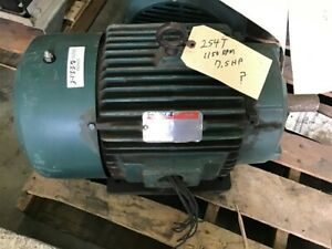Reliance P25g7400r 7 5 Hp Ac Motor 230 460 Volts 1170 Rpm 254t Frame 3phase