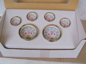 Rpc Six Electrical Gauge Set New In Box 3 3 8 Speedo Tach 2 1 16 Gas Temp Oil