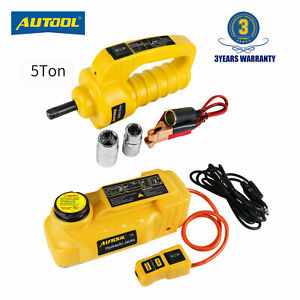 5 Ton Electric Hydraulic Jacks Floor Jack Lifting Tool Electric Impact Wrench