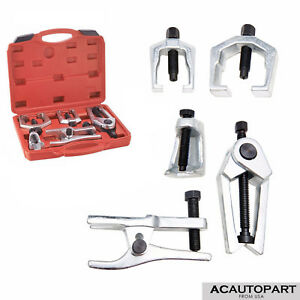 6pc Pitman Arm Puller Ball Joint Separator Front End Service Tie Rod Tools Set