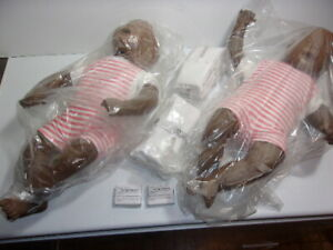 Lot 2 New Laerdal Baby Anne Infant Cpr Training Manikins Resuscitator