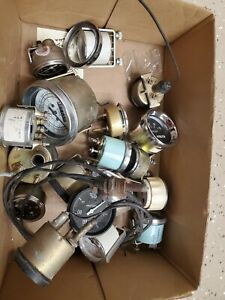 Guage Lot Stewart Warner Vintage Repoductions Speedometer Oil Temp Pressure