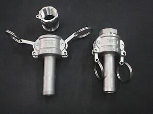 Stainless Steel Cam Lock 3 4 Npt 3 4 Hose Barb Assembly Clay075