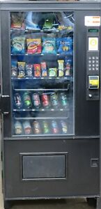 Ams Combination Canned Soda snack Vending Machine With Credit Card Reader