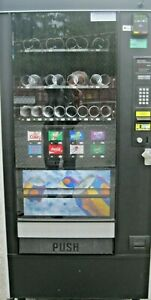 Automatic Products Canned Soda And Snack Combination Vending Machine W cc Reader