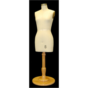 Miniature Adult Female Size 8 Professional Dress Form Mannequin With Base