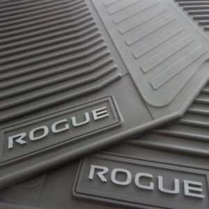 Floor Mats For Car Set Of All Weather Oem Nissan Rogue 2014 2020 Grey Letters