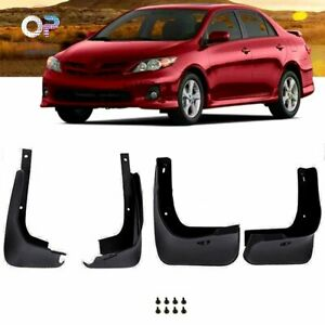 Splash Guards Front Rear For 2009 2013 Toyota Corolla Mud Flaps Complete Pair
