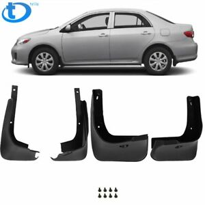 New Splash Guards Front Rear For 09 13 Toyota Corolla Mud Flaps Complete Pair Us