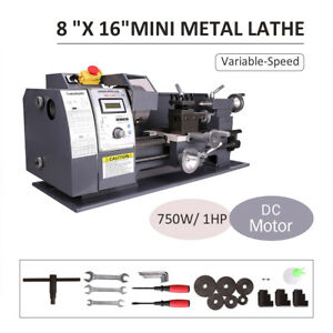 750w 8 x16 automatic Mini Metal Lathe Variable speed Metalworking Milling Bench