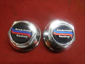 2 Nos 70s American Racing Daisy 200s T 70 Snap In 2 5 Center Caps Mag Wheel