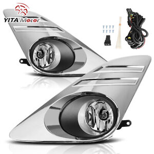 Yitamotor For 2012 2014 Toyota Camry Clear Fog Lights Lamps W bulbs Wiring Kit