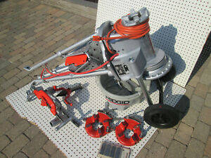 Exc Ridgid 300 T2 Pipe Threader Machine Two 811 Head Hs 1 4 2 Complete Set