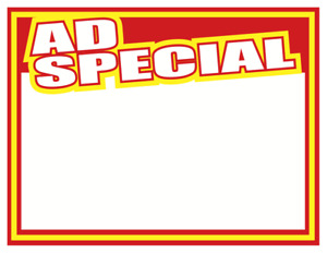 sale Ad Special Sale Price Signs 11 X 8 5 1000 Pcs Retail display Signs