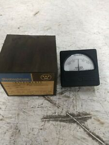 Vintage Westinghouse Electrical Panel Meter Gauge 800 0 800 Milliamperes Dc