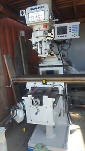 Turn pro Milling Machine Dro On 3 Axes power Feed In X z Table 54 10 Vari spd