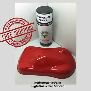 Hydrographic Film Hydro Dip Kit 6oz Aerosol Paint Clear Coat High Gloss Clear