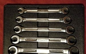 Excellent Snap On Metric Flare Nut Line Wrench Set 9mm 21mm 5 Pc Set Rxm605