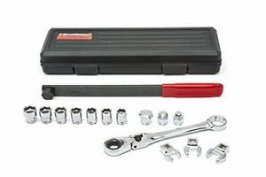 Gearwrench 15 Pc Serpentine Belt Tool Set With Locking Flex Head Ratcheting