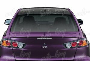 Fit 08 16 Mitsubishi Lancer Evo X Carbon Look Style Rear Roof Shark Fin Spoiler