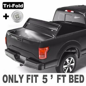 Tri fold 5ft Short Bed Truck Tonneau Cover For 04 12 Chevy Colorado Gmc Canyon