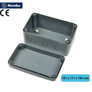 Waterproof Electrical Wire Junction Box Enclosure Case Abs 181 X 111 X 100mm Abs