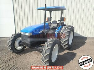 2004 New Holland Tn75 Tractor 2 Post Canopy 4x4 3 Point Lhr 75 Hp 1249 Hours