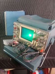 Tektronix 465 100 Mhz Dual channel Oscilloscope W Probes And Manual