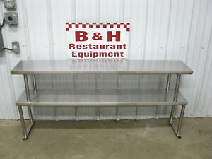 62 5 Stainless Steel Steam Work Table Double Over Shelf Plate Rack 5