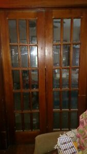 Antique Interior French Solid Wood French Doors 24 X 80 Each Vgc