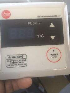 Rheem Umc 117 Tankless Water Remote Control Thermostat Without Cable Connector