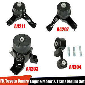 4pcs Engine Motor trans Mount Set Fit 2002 2009 Toyota Camry 2 4l For Auto Trans