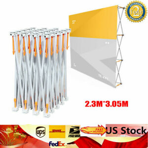 Portable 7 5x10ft Pop up Booth Frame Trade Show Display Stand Backdrop Sale
