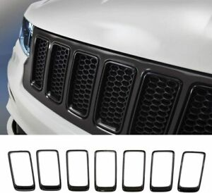 Front Grille Inserts Grill Cover Trim Kit For Jeep Grand Cherokee 14 2016 Black