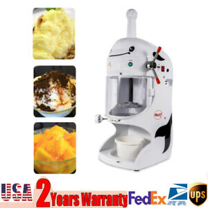 350w Electric Ice Crusher Shaver Machine Snow Cone Maker Shaved Ice Snow Machine
