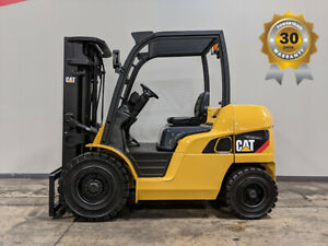 2014 Cat Caterpillar Dp40n1 8000lb Pneumatic Forklift Diesel Lift Truck Hi Lo