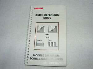 Keithley Quick Reference Guide Models 236 237 238 Source Measure Units