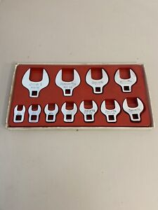 Snap On 211fcoa 11pc 3 8 Dr Sae Open End Crowfoot Wrench Set 3 8 1 Free Ship