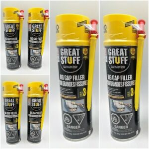 6 Cans Dow Great Stuff Big Gap Filler Spray Foam Can 16 Oz Fill Up To 3