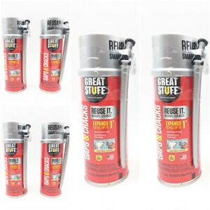 6 Cans Dow Great Stuff Gaps Cracks Spray Foam Can 12 Oz Fills Up To 1