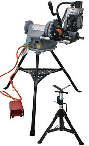 Reconditioned Ridgid 300 Power Drive And Steel Dragon Tools 918 Roll Groover