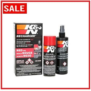 K N Air Filter Cleaning Cleaner Recharger Kit W Oil Spray Can 99 5000 Easy Use