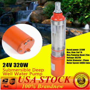 24v Submersible Deep Dc Solar Well Water Pump Alternate Energy 320w 5m h 25m Us