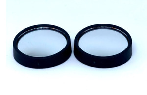 2 Round 360 Adjustable Blind Spot Mirror Wide Angle Convex 2 Pcs Stick On New