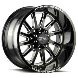 4 New 20 Off Road Monster M17 Wheels 20x10 6x5 5 6x139 7 19 Black Milled Rims