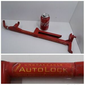 Vtg Original Unbreakable Autolock Bullet Proof Car Lock Lawman Auto Made In Usa