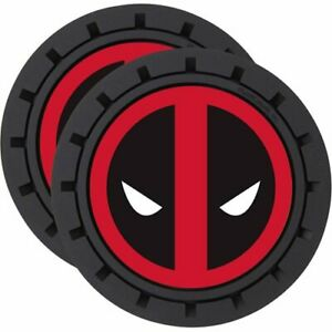 Brand Deadpool Truck Car Suv Travel Auto Cup Holder Insert Coaster Set 2