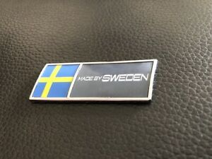 Made By Sweden Chrome 3d Chrome Domed Decal Volvo Saab Scania Swede Swedish