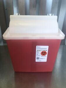 Covidien 8507sa Biohazard Patient Room Sharps Containers 5 Qrt Red Wall Mount